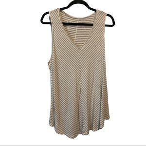 Maurices 24/7 V-Neck Stripped Tank Top Size 2